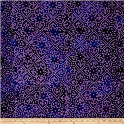 Indian Batik Mirage Patch Purple