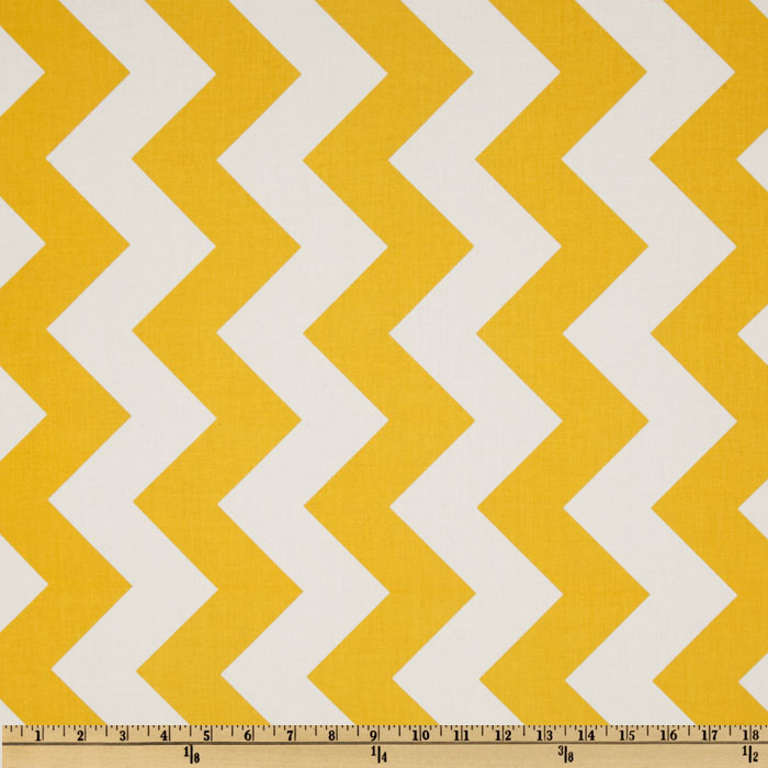 Riley Blake Chevron Large Yellow Fabric
