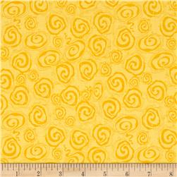 Riley Blake Fantine Swirl Yellow