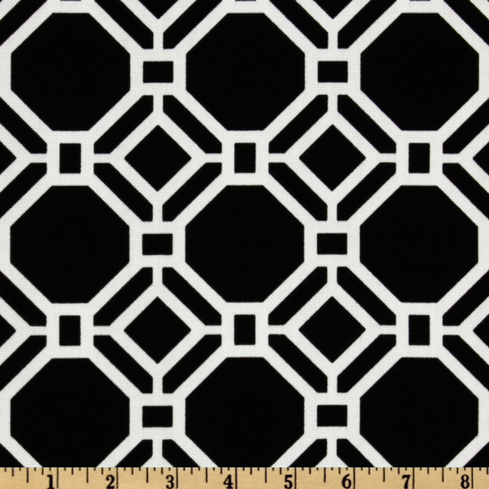 Swavelle/Mill Creek Indoor/Outdoor Rossmere Black Tie Fabric
