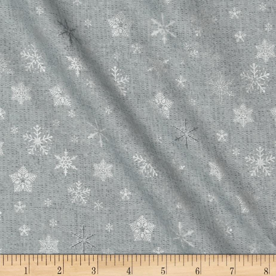Glimmering Tossed Snowflakes Grey/Silver