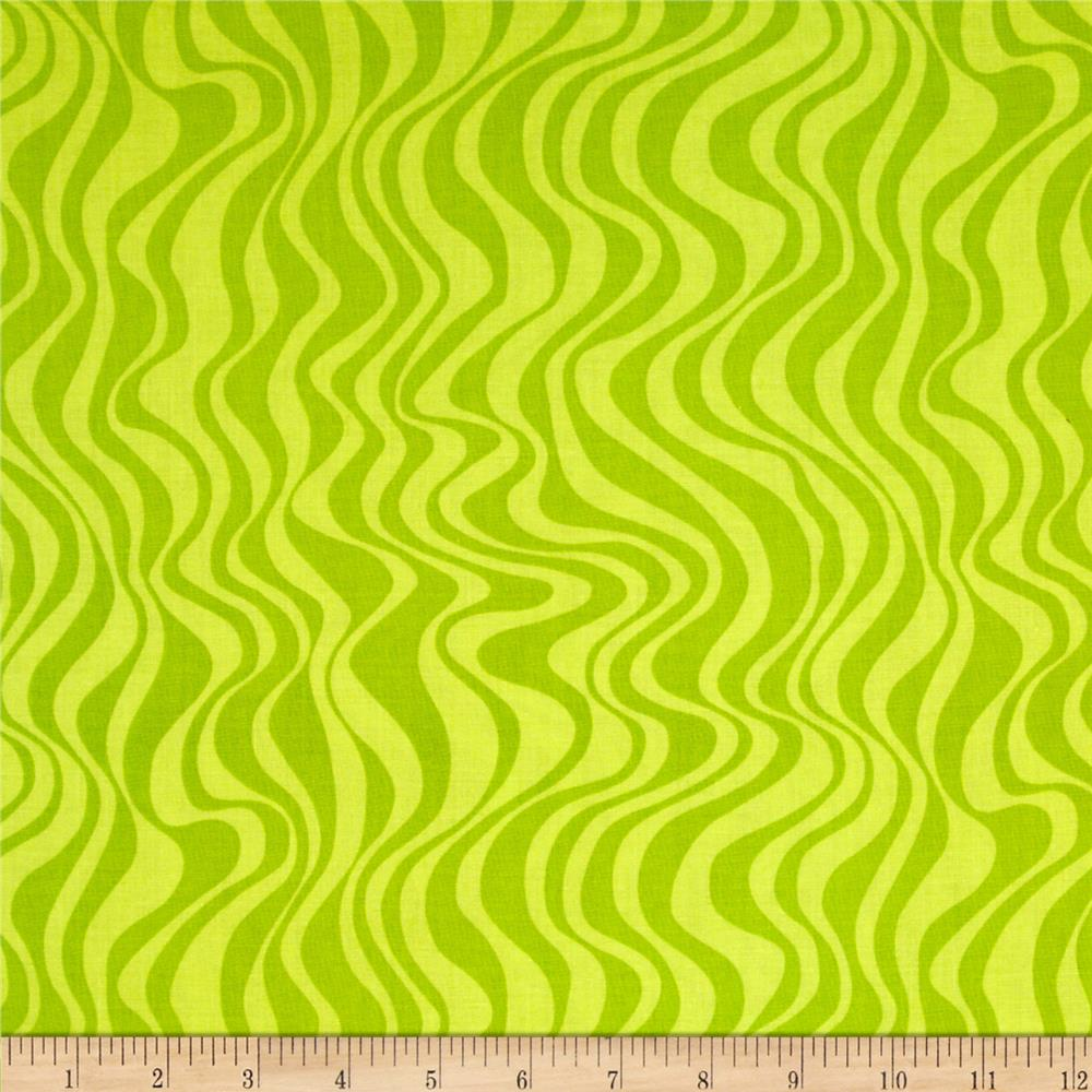 Calypso Frogs Swirl Stripe Lime