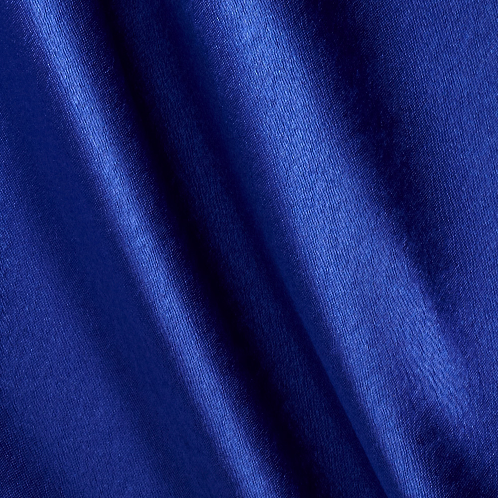 Poly Crepeback Satin Royal Fabric by Richland in USA
