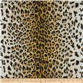 Cotton Jersey Knit Leopard Orange/Black