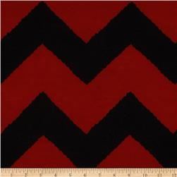 Fashionista Jersey Knits Chevron Black/Red