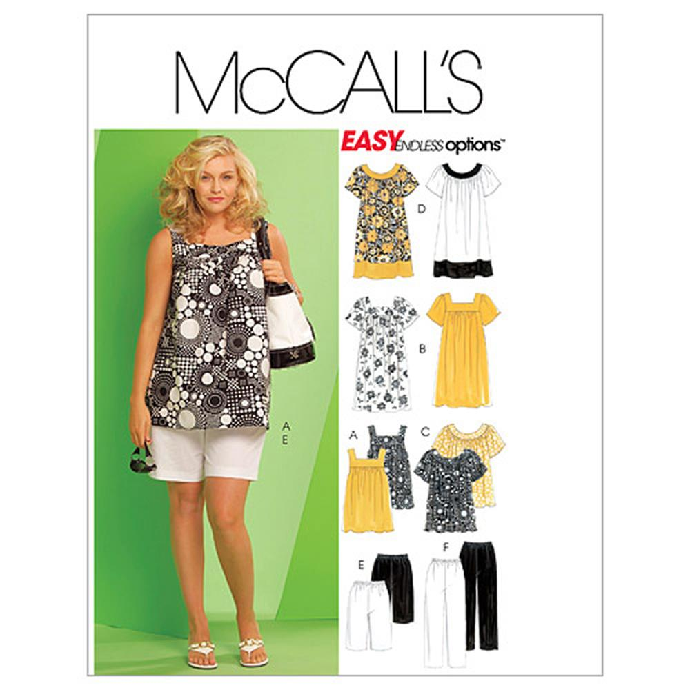 McCall's Women's Tops, Dresses, Shorts and Capri Pants