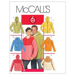 McCall's Misses'/Men's Tops and Unlined Jackets Pattern M5538 Size XM0