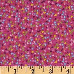 Hootenanny Tossed Triangles Purple