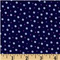 Fluffy Jungle Flannel Tiny Squares Navy