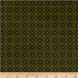 Kim Diehl Winter Cheer Flannel Lattice Green