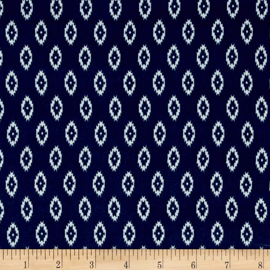 Lightweight Dress Woven Diamond Aztec Navy/White