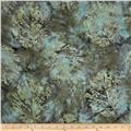 Bali Batiks Handpaints Leaves Celadon