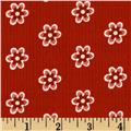 Riley Blake A French Courtyard French Floral Red