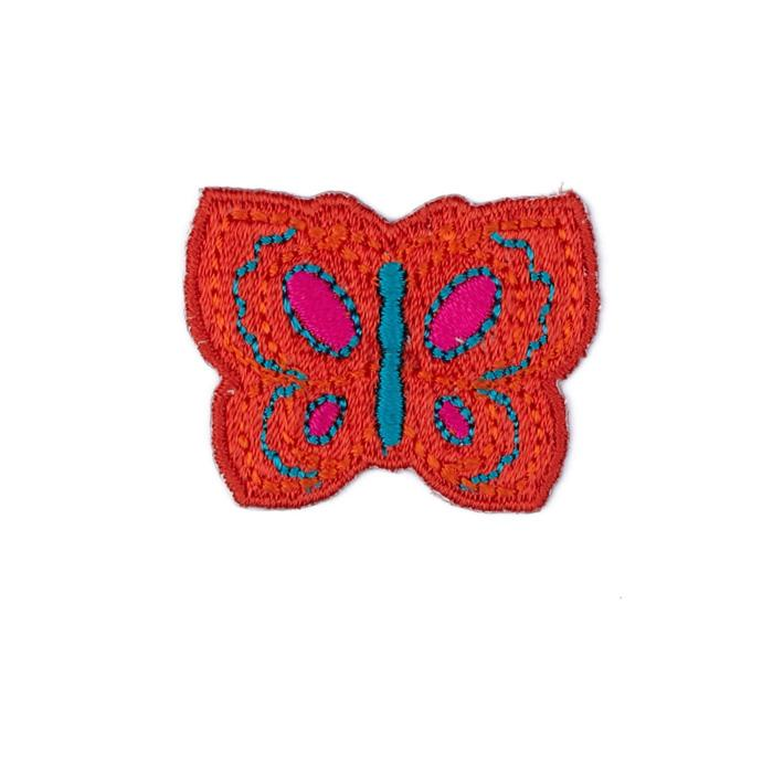 Boutique Applique Butterfly Orange/Multi