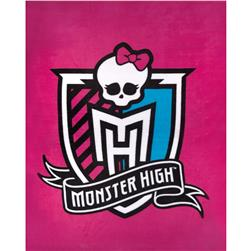 Monster High Fleece Crest Panel Pink