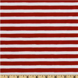 Minky Pirate Monkey Cuddle Striped Red/White