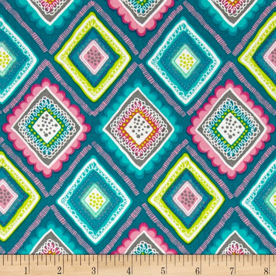 Lindsey Pattern Diamonds Turquoise