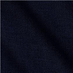 Merino Wool Suiting Navy Pixels