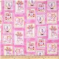 Comfy Flannel Animal Patchwork Pink