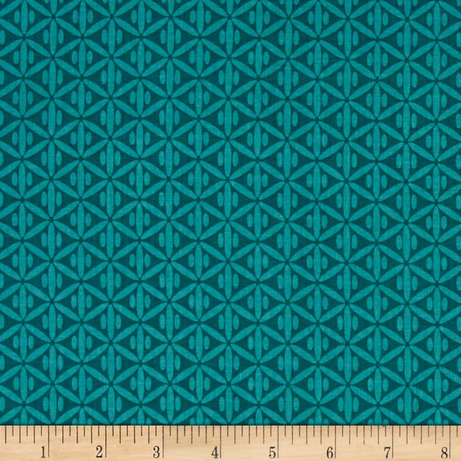 Riley Blake Botanique Criss-Cross Teal
