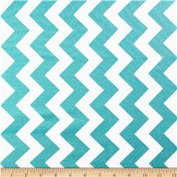 Riley Blake Hollywood Sparkle Medium Chevron Aqua