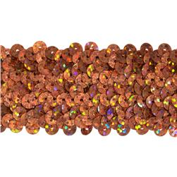 1 1/2'' Hologram Stretch Sequin Trim Orange