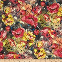 Rain or Shine Watercolor Floral Quilt Yellow/Pink/Blue