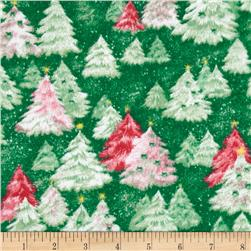 Flannel Tossed Tree's Green