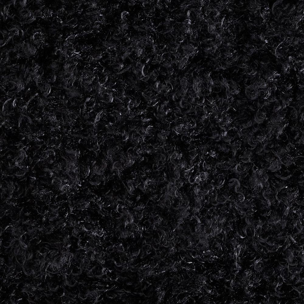 Faux Fur Mongolian Curly Black