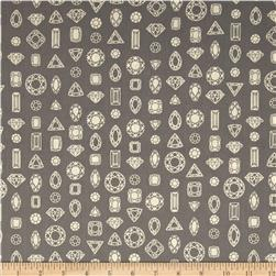 Cotton & Steel Lawn Moonlit Gems Gray Fabric