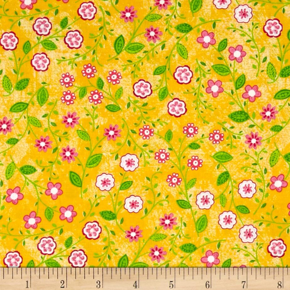 My Lil Lady Floral All Over Yellow