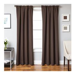 Sunbrella 84'' Solid Rod Pocket Outdoor Panel Bay Brown