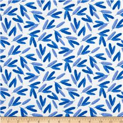 Flower Pedals Organic Feathers Blue
