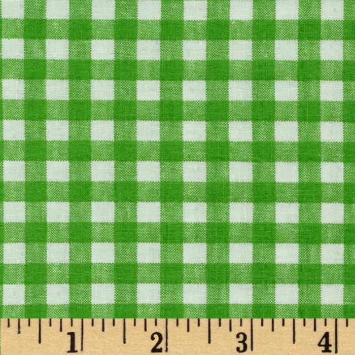 Basic Training Gingham Lime Green/White