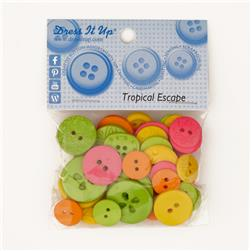 Dress It Up Color Me Collection Buttons Tropical Escape Multi