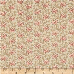 Moda Country Orchard Trailing Floral Cream/Sky