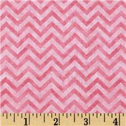 Heart Strings Small Chevron Pink