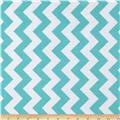 Riley Blake Laminate Medium Chevron Aqua