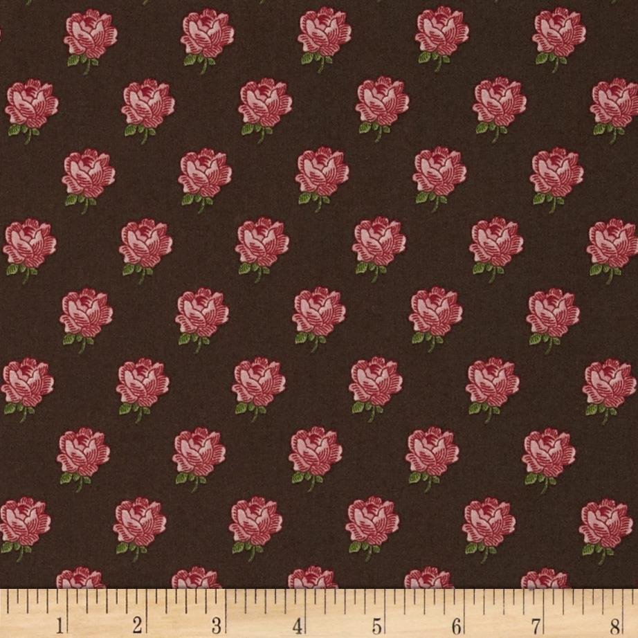 Flower Pot Roses Brown/Pink