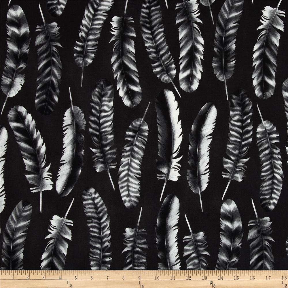 Black & White Feathers Charcoal