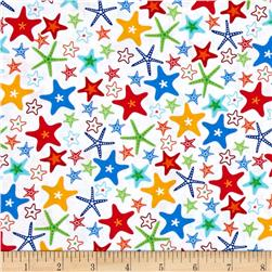 Fun At The Beach Stars White