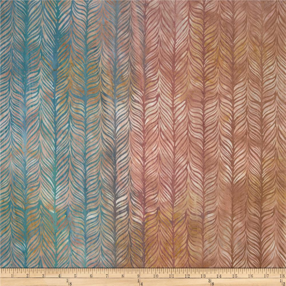 Artisan Batiks Elementals Horizontal Feather Terracotta