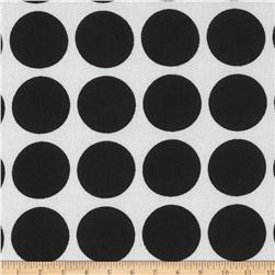 Chiffon Circles Jet Black/White