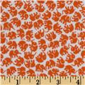 Michael Miller Little Elephants Flannel Orange