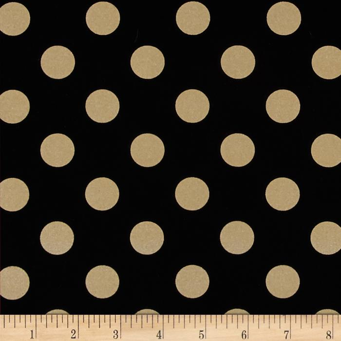 Michael Miller Glitz Metallic Quarter Dot Pearlized Black/Bronze