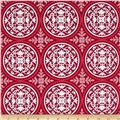 Joel Dewberry True Colors Scrollwork Deep Pink