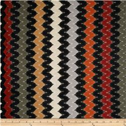 Net Lace Chevron Black/Rust