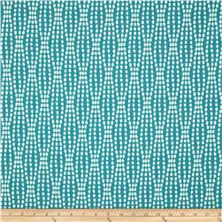Waverly Strands Jacquard Teal Fabric
