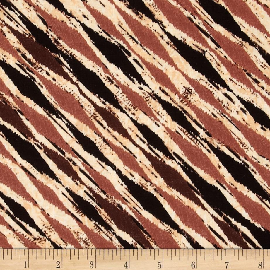 Kanvas C is for Cat Furr Diagonal Stripe Black/Brown