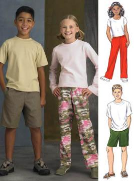 Kwik Sew Unisex Children's Pants and Shorts Pattern
